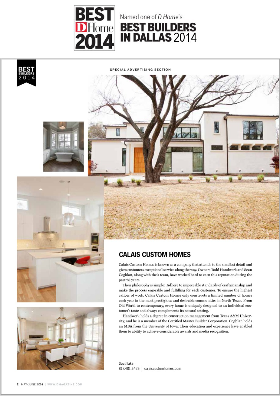 2014 DHome Best Builder Award Article